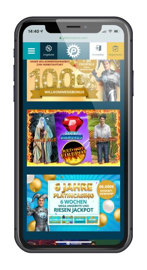 platin casino iphone
