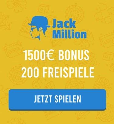 Casino Bonus bei JackMillion